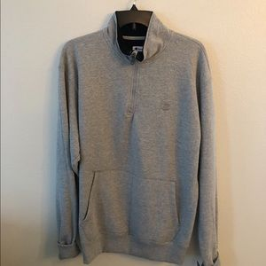 Men's Champion Quarter Zip Gray Sweater